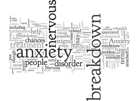 Anxiety And Nervous Breakdown Not Exactly The Same 向量圖像
