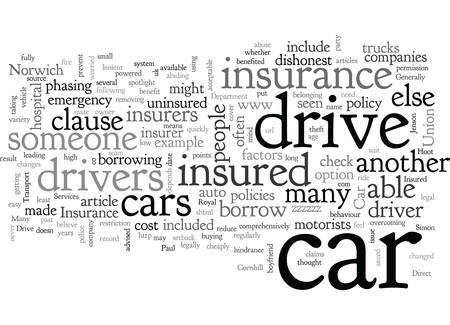 Are You Insured To Drive Any Car Banque d'images - 132214131