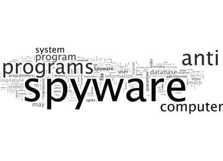 Anti-Spyware-Programme Vektorgrafik