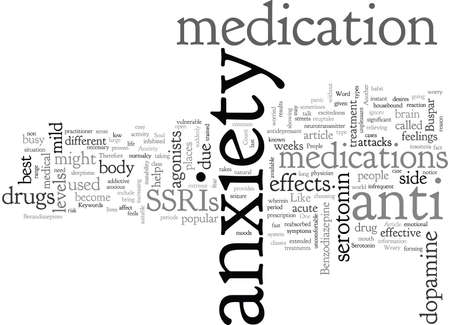 Anxiety Medications for the Weary Soul Illustration