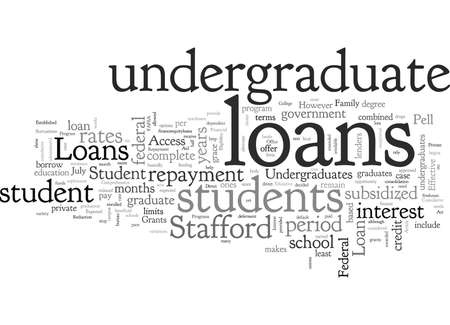 Are Their Student Loans For Undergraduates