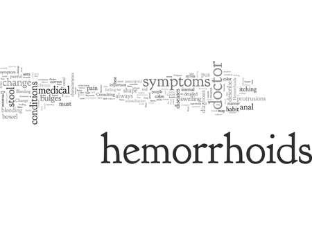 Be Aware of the Symptoms of Hemorrhoids Stock Illustratie