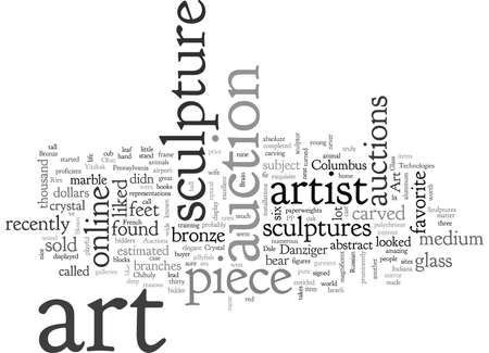 art auctions for sculptures 向量圖像