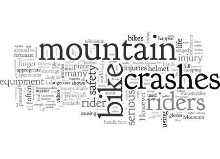 Avoid Mountain Bike Crash Illustration