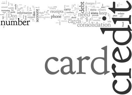 Avoid Credit card frauds Vektorové ilustrace