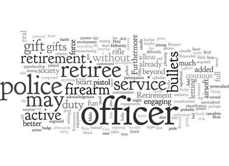 Bang Retirement Gifts For A Police Officer Standard-Bild - 132214330