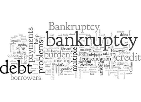 Avoid Bankruptcy Free and Flexible Bankruptcy Advice Standard-Bild - 132214336
