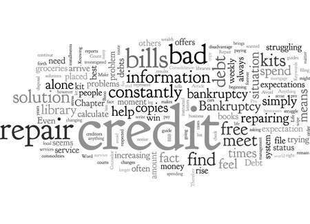 Bad Credit Repair  イラスト・ベクター素材