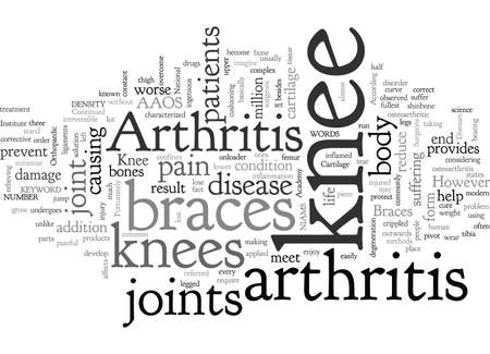 Arthritis Knee Braces Иллюстрация