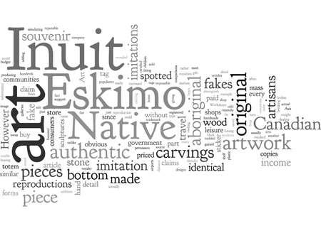 Authentizität der Eskimo-Inuit-Kunst Indianische Kunst Vektorgrafik