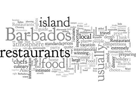 Barbados Restaurants Vettoriali