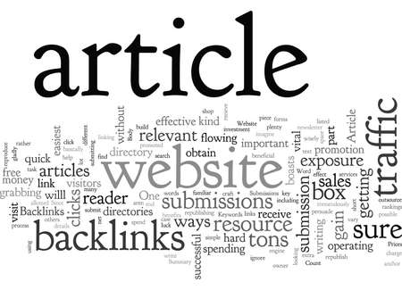 Article Submissions Benefit Your Website
