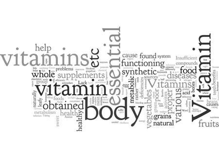Bienfaits et carences des vitamines Vecteurs