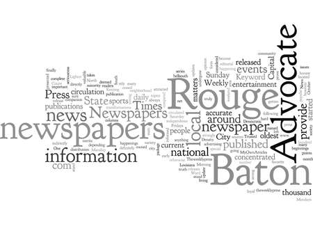 Baton Rouge Newspapers 向量圖像