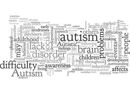 Autismus-Symptome erkennen sie frühzeitig Vektorgrafik