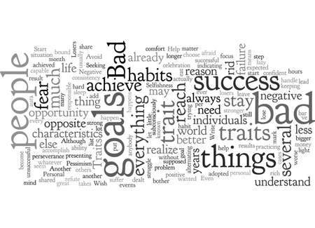 Bad Traits to Avoid If You Wish to Achieve Your Goals Vectores