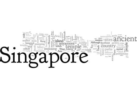 Attractions Guide for Singapore 免版税图像 - 132214463