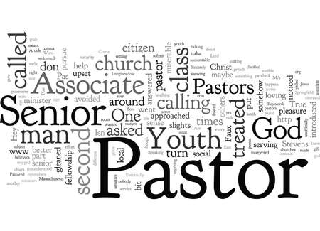 As an Associate Youth Pastor I have been treated as a second class citizen Ilustrace