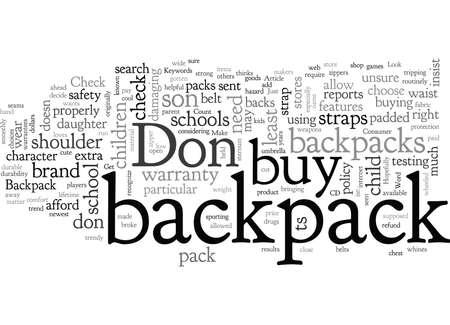 Rucksack-Do s und Don ts Vektorgrafik