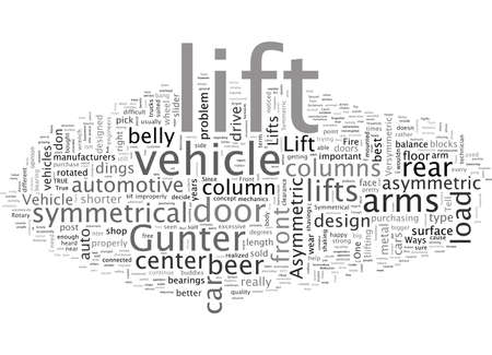 Asymmetric vs Symmetric Vehicle Lifts Which Is Right For Me Vecteurs