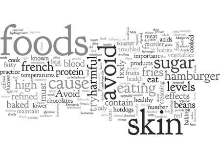 Avoid These Foods Gain Beautiful Skin Illusztráció