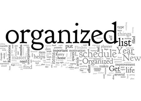 Begin the New Year Right Get Organized