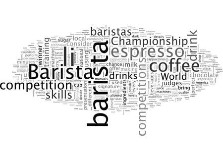Barista Competitions  イラスト・ベクター素材