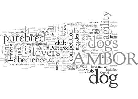 Basic Principles In A Dog Lovers Club Иллюстрация