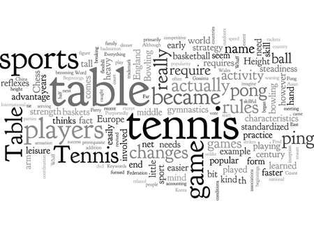 Beginnings Of Table Tennis