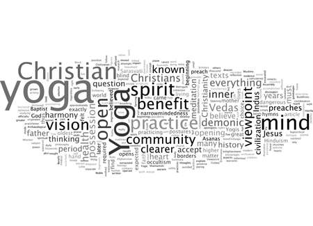 Benefit of Yoga The Christian Viewpoint 일러스트