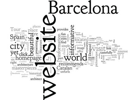 Barcelona Tour Иллюстрация