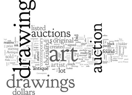 art auctions for drawings