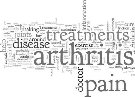 Arthritis-Behandlungen Vektorgrafik