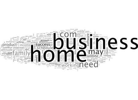 Basic Steps for Home Business Success Иллюстрация