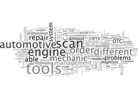 Outils d'analyse automobile et la voiture moderne Vecteurs