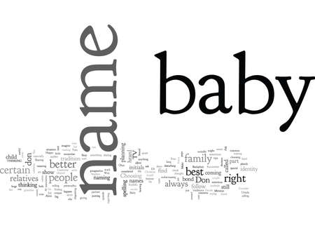baby name 向量圖像