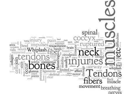 Back Pain and Tendons Illustration