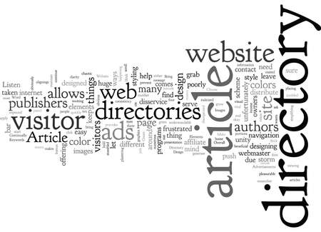 Article Directory Website Design Clean Up Your Content