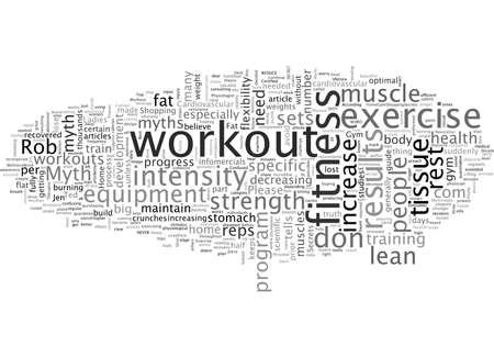 Vermeiden Sie diese Top-Workout-Mythen Vektorgrafik