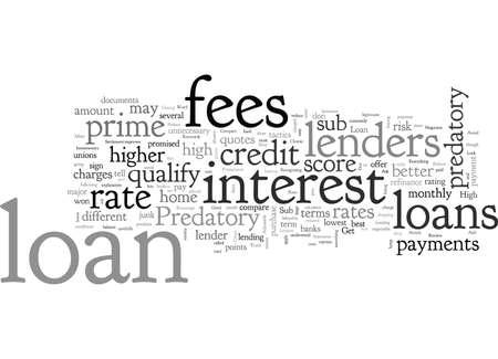 Vermeiden Sie räuberische Kreditgeber und erhalten Sie ein gutes Eigenheimdarlehen Vektorgrafik