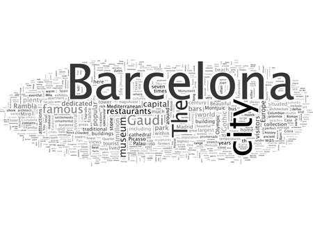 Beautiful BARCELONA Easy Travel Guide Illustration