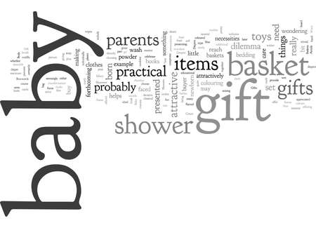 Baby Gift Baskets For Showers And Newborn Gifts Stockfoto - 132214738