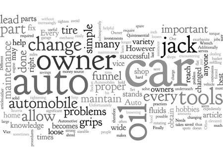 Outils automobiles dont chaque propriétaire d'automobile a besoin Vecteurs
