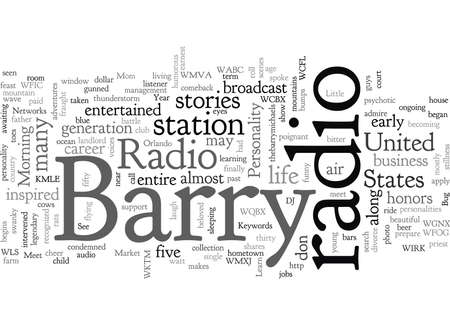 Barry Michaels Radio is My Life Banque d'images - 132214762