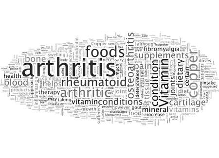 Arthritische Diäten Vektorgrafik