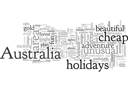 Australia Cheap Holidays To Three Cities  イラスト・ベクター素材