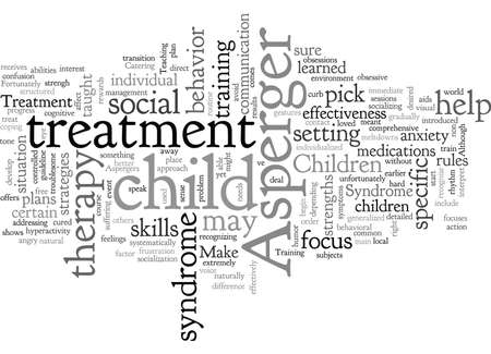Aspergers Treatment Vetores