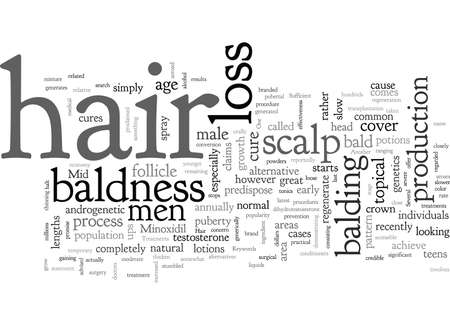 Baldness Cures and Treatments Stock Illustratie