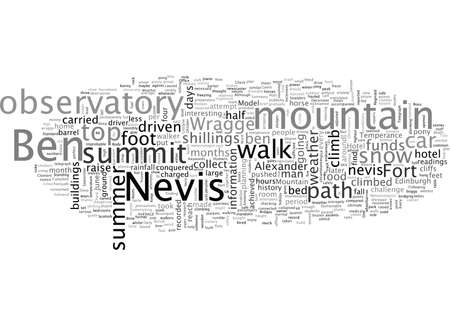 Ben Nevis a brief history of Humans on the Mountain Standard-Bild - 132214802