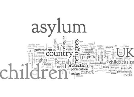 Asylum Seeker And Refugee Children Illustration